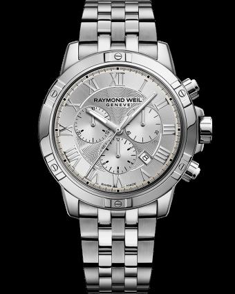 montre-bracelet chronographe à quartz en acier argenté tango RAYMOND WEIL
