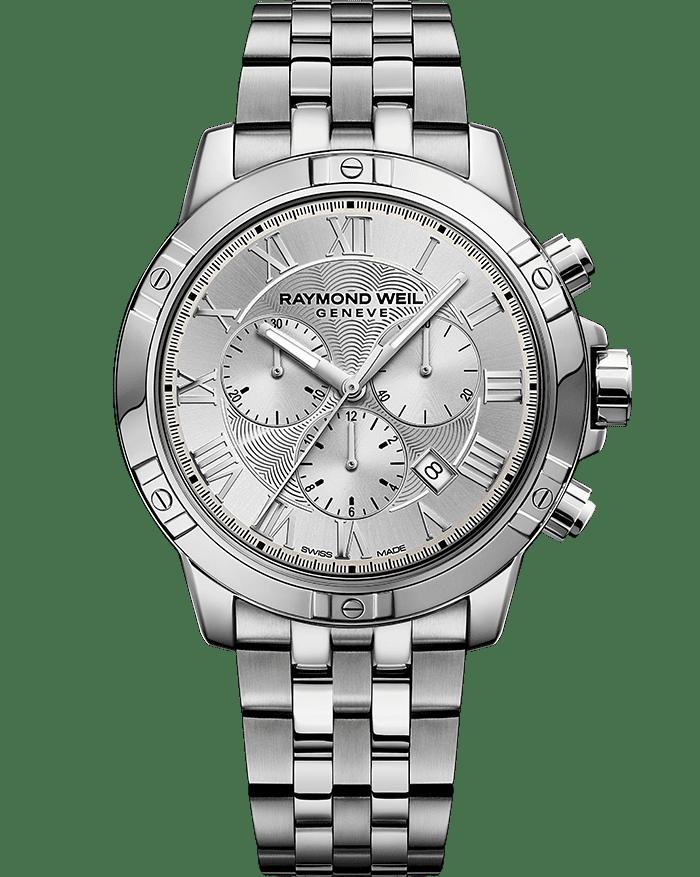 RAYMOND WEIL tango silver steel quartz chronograph bracelet watch