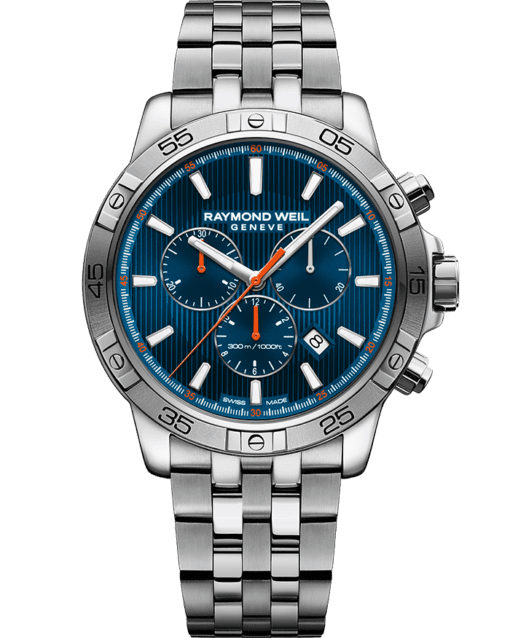 RAYMOND WEIL tango blue steel quartz chronograph