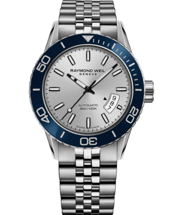RAYMOND WEIL freelancer steel blue diver bracelet watch