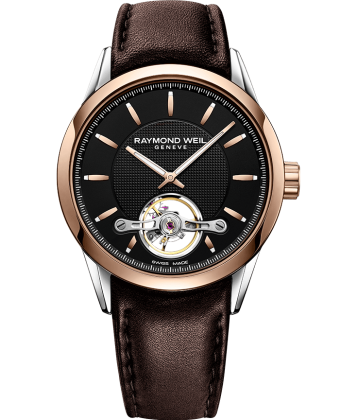 a577a6d81 RAYMOND WEIL freelancer Calibre RW1212 automatic rose gold brown leather  watch
