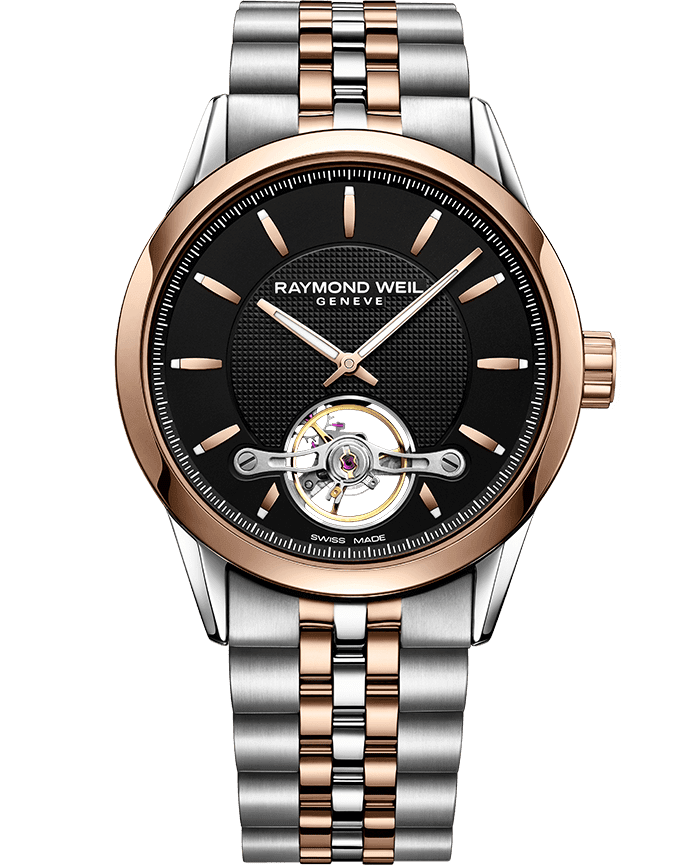 Freelancer - RW1212 Rose Gold Open Aperture Watch- RAYMOND WEIL