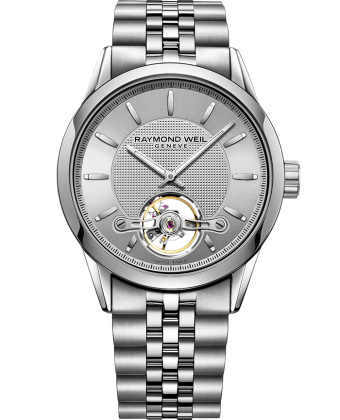 RAYMOND WEIL freelancer Calibre RW1212 Silver Steel Automatic Open Aperture Watch