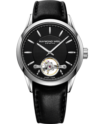 Freelancer - RW1212 Black Open Aperture Watch- RAYMOND WEIL