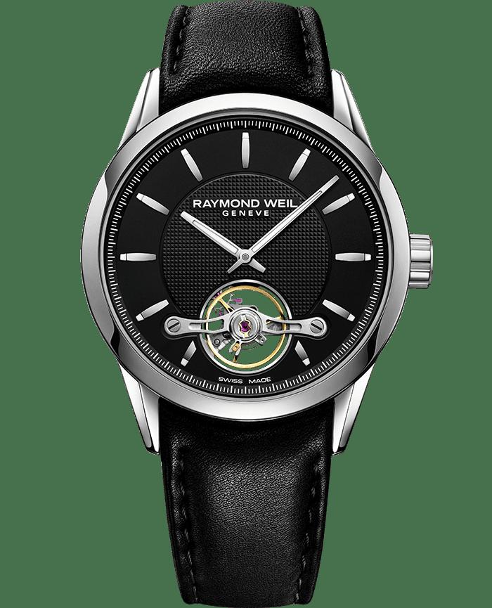 Freelancer - RW1212 Black Open Aperture Watch- RAYMOND WEIL