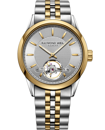 RAYMOND WEIL freelancer calibre RW1212 two-tone gold silver automatic watch