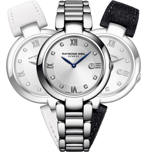 montre à bracelet interchangeable et 8 diamants shine Étoile RAYMOND WEIL