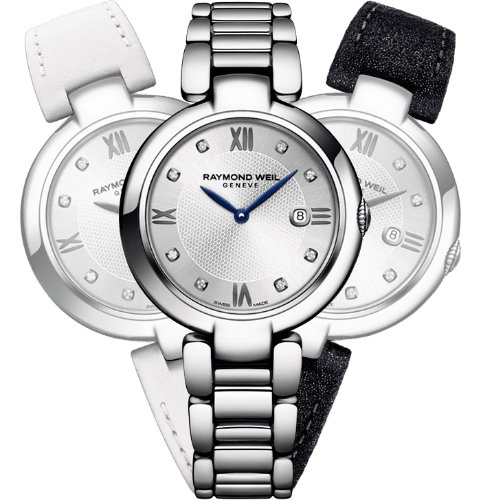 RAYMOND WEIL shine Etoile 8 diamond interchangeable strap bracelet watch