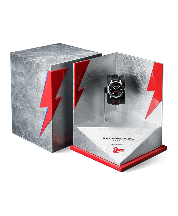 david bowie watch box raymond weil automatic date