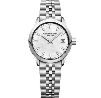 RAYMOND WEIL lady freelancer quartz silver date watch 26mm