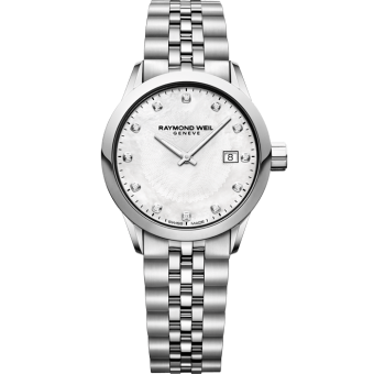 RAYMOND WEIL lady freelancer 12 diamond quartz steel watch