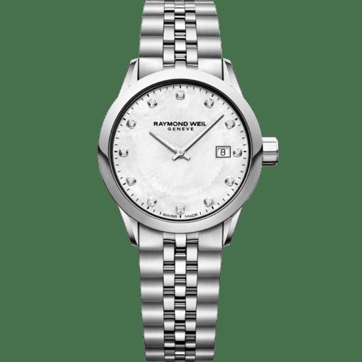 RAYMOND WEIL lady freelancer 12 diamond quartz steel watch