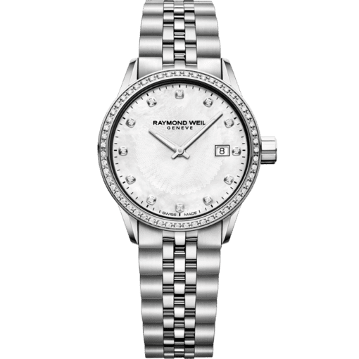 RAYMOND WEIL lady freelancer 67 diamond steel bracelet watch