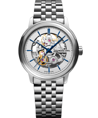 RAYMOND WEIL maestro Skeleton silver stainless steel watch