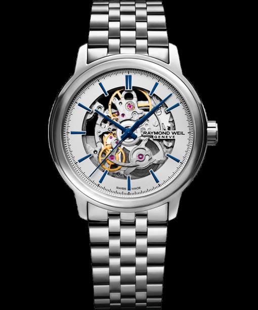 RAYMOND WEIL maestro Skeleton silver stainless steel watch