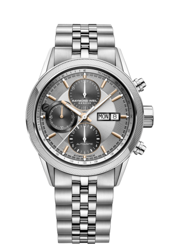 7731 Silver Automatic Chronograph Watch - Freelancer | RAYMOND WEIL