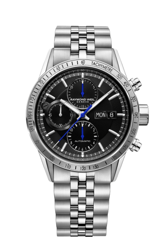 Steel Chronograph Tachymeter Watch - Freelancer | RAYMOND WEIL