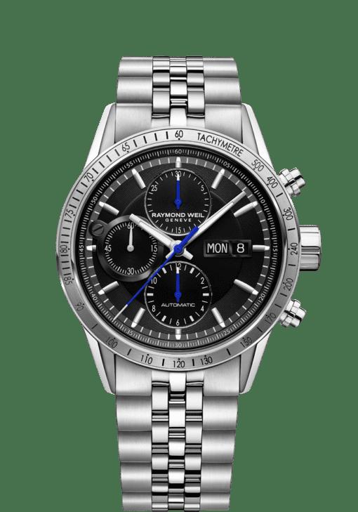 ساعة كرونوجراف بمقياس سرعة الدوران من الفولاذ - فريلانسر | ريموند ويل