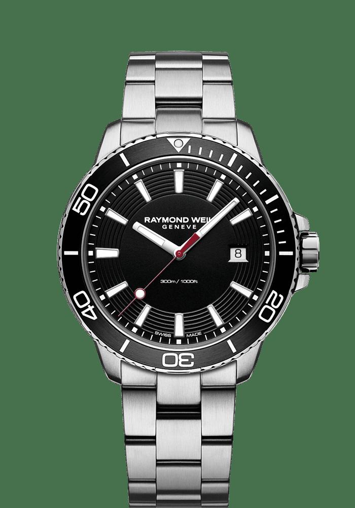 chronographe à quartz avec cadran noir tango300GMT