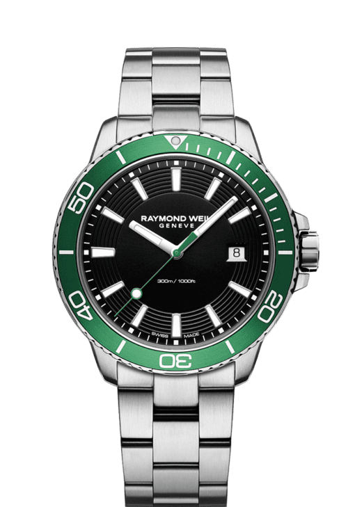 green diver watch quartz chronograph ETA movement