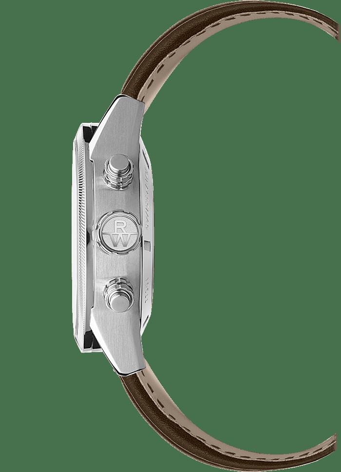 الفولاذ المقاوم للصدأ تاجFREELANCER-7731-SC2-65655_2ساعة كرونوغراف أوتوماتيكية للرجال، 42 ملم