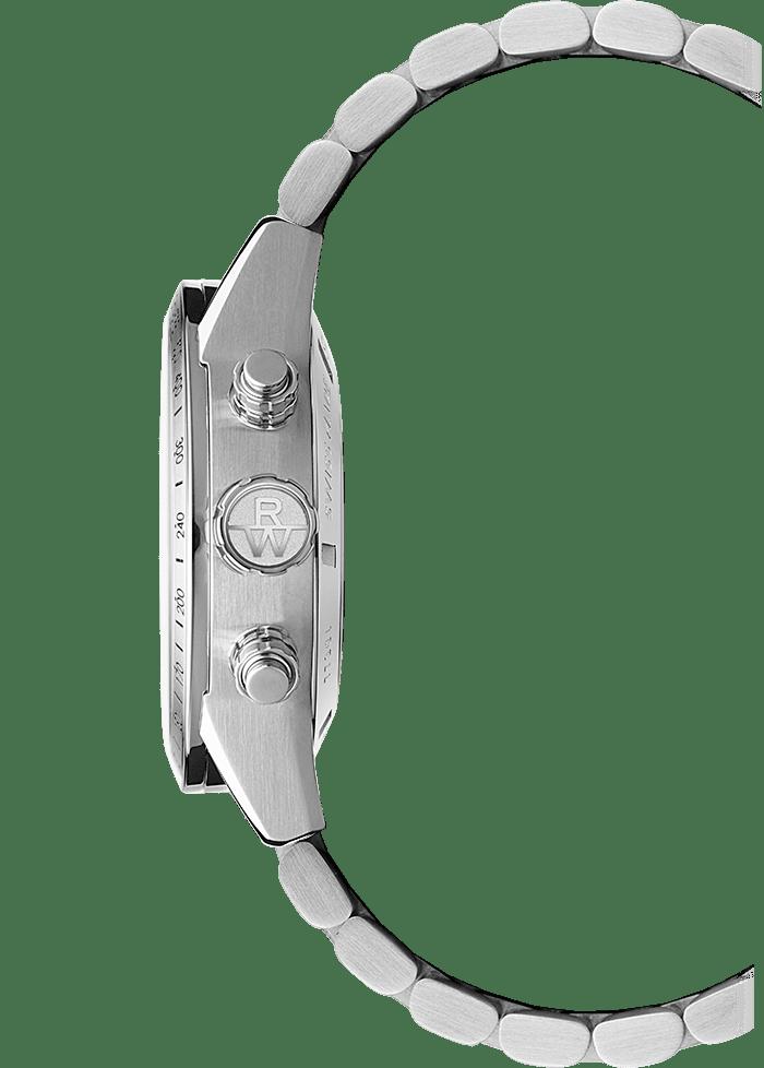 42mm-7731-st-20021 freelancer chronographe automatique Couronne de montre en acier inoxydable