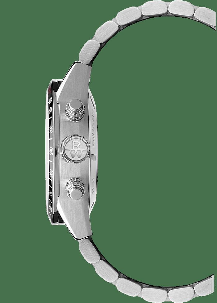 الفولاذ المقاوم للصدأ تاجساعة كرونوغراف أوتوماتيكية للرجال، 42 ملم freelancer-7731-st1-20621