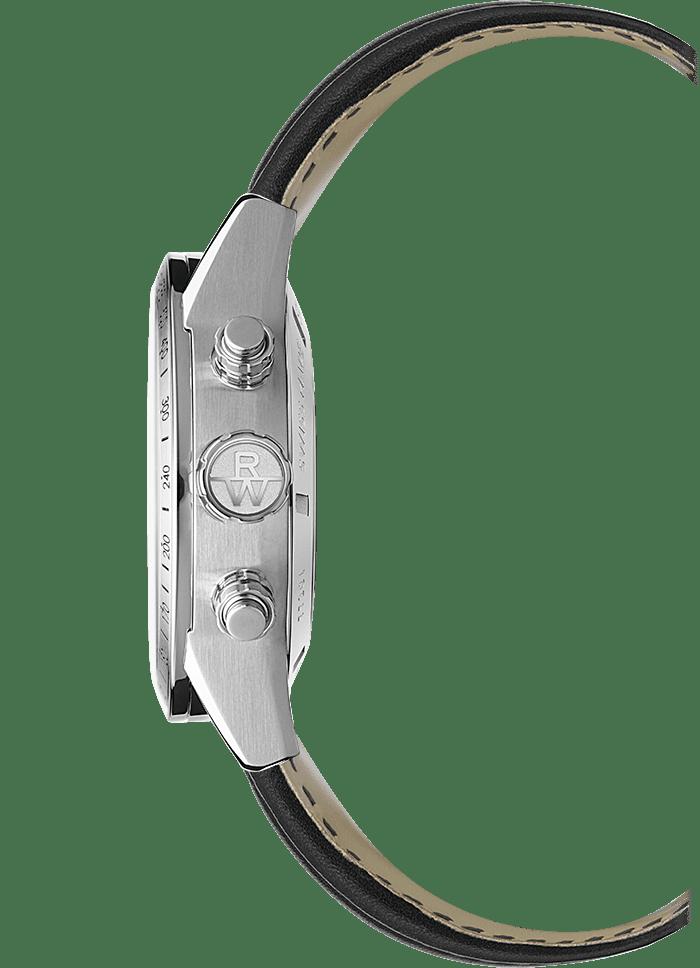 الفولاذ المقاوم للصدأ تاج ساعة كرونوغراف أوتوماتيكية للرجال، 42 ملم 42mm-7731-STC-20021