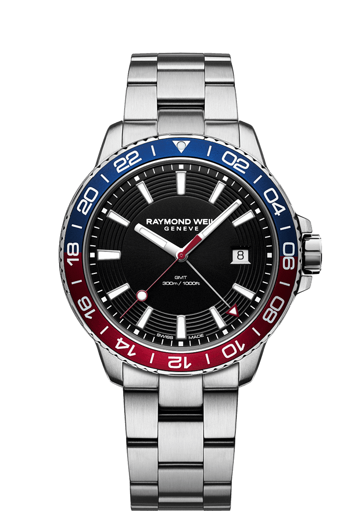 tango 300 GMT 红色和蓝色潜水者手表