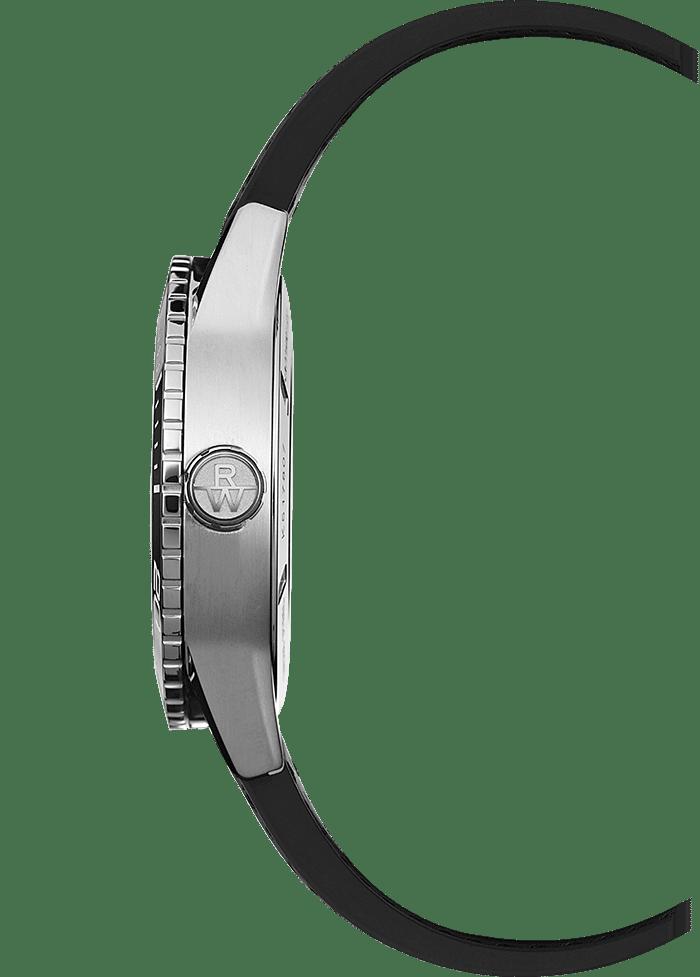 aa1fdc393 RAYMOND WEIL freelancer men's black rubber strap diver watch. RAYMOND ...
