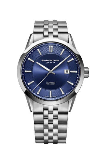 RAYMOND WEIL freelancer blue dial stainless steel watch