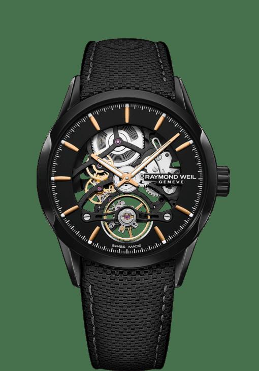 RW1212 Black Skeleton Automatic Watch - Freelancer | RAYMOND WEIL