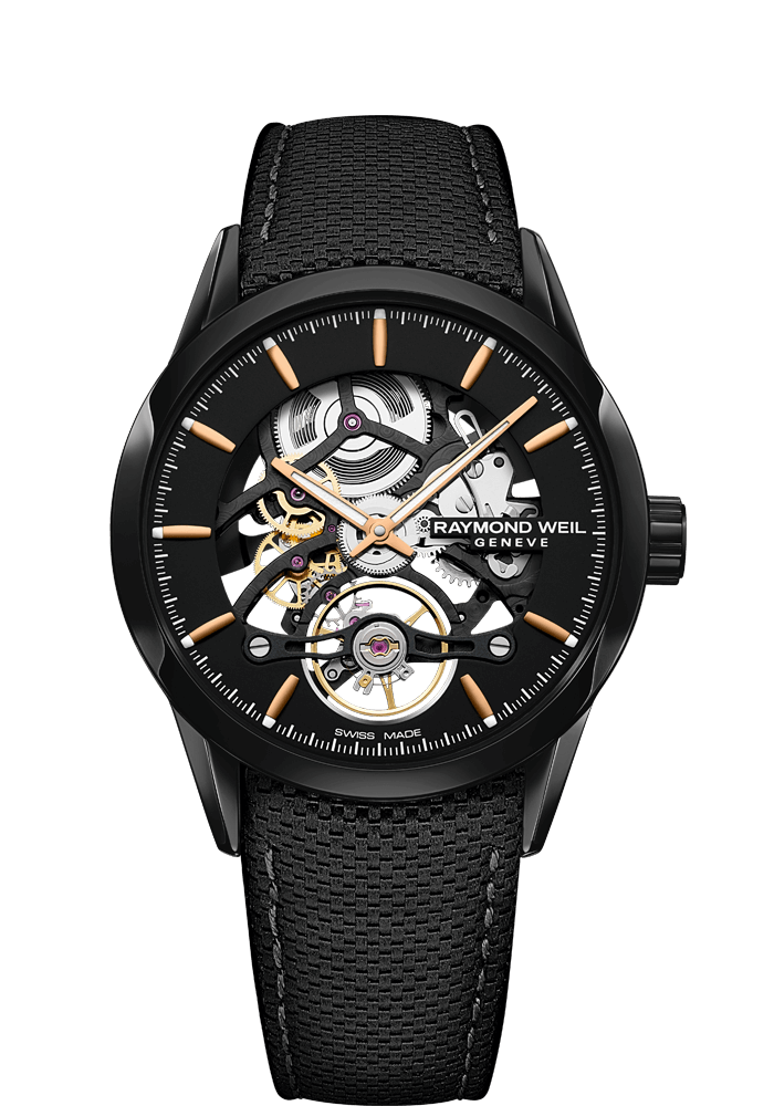 RW1212 Black Skeleton Automatic Watch - Freelancer | RAYMOND WEIL
