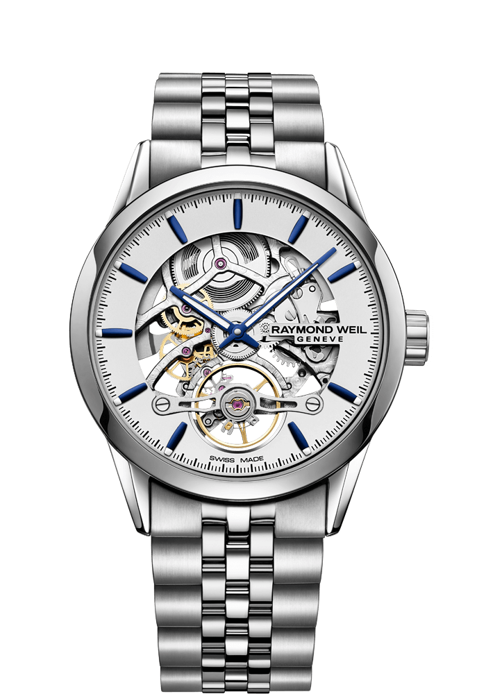 RAYMOND WEIL freelancer Calibre RW1212 Skeleton 2785-ST-65001 stainless steel bracelet