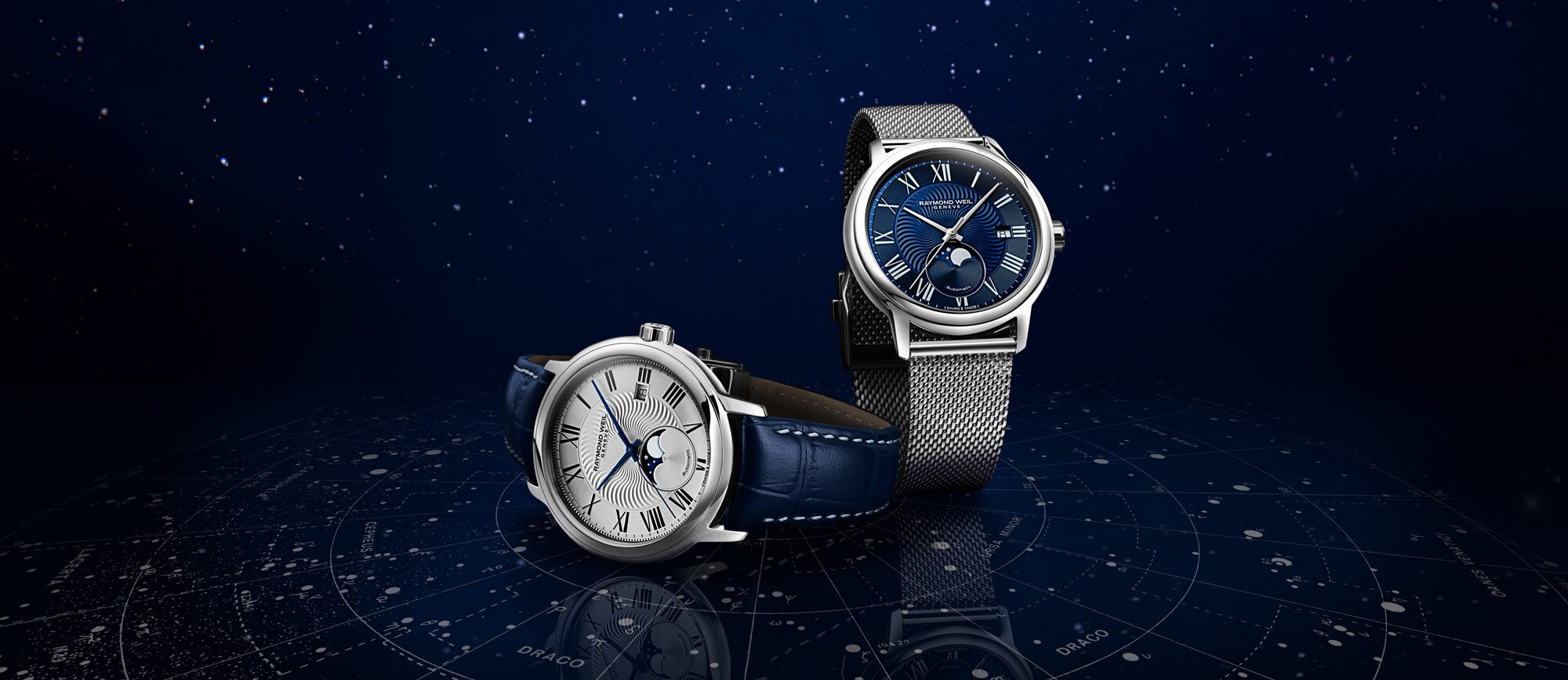 042f0a76a1a Search. 🔍. Maestro Moon Phase Blue Leather blue dial Watch RAYMOND WEIL