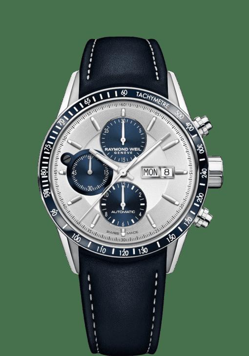 chronographe automatique bleu freelancer pour homme 7731-sc3-65521 RAYMOND WEIL