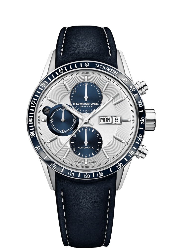 RAYMOND WEIL freelancer men's blue automatic chronograph 7731-sc3-65521