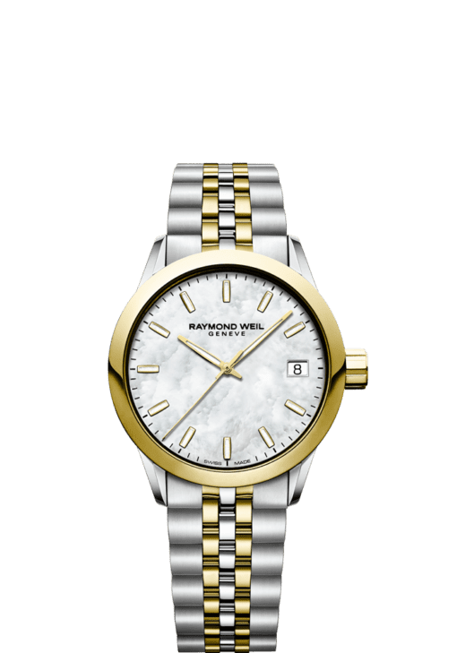 RAYMOND WEIL freelancer ladies 5634-stp-97021 34mm two-tone gold women's watch