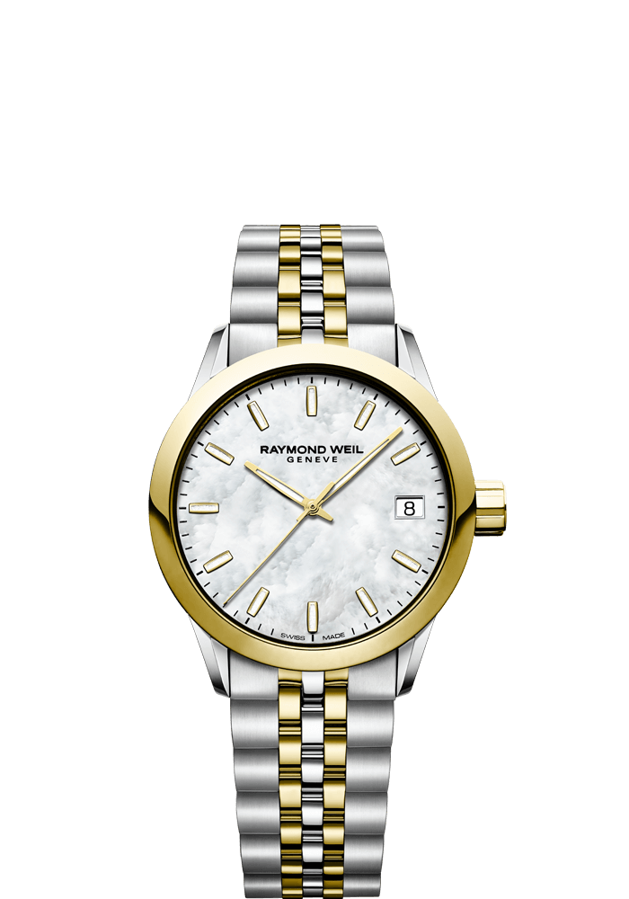 RAYMOND WEIL freelancer ladies 5634-stp-97021 34mm two-tone gold women's watch