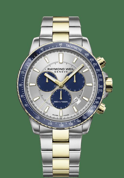 RAYMOND WEIL tango blue two-tone gold quartz chronograph 8570-sp3-65501