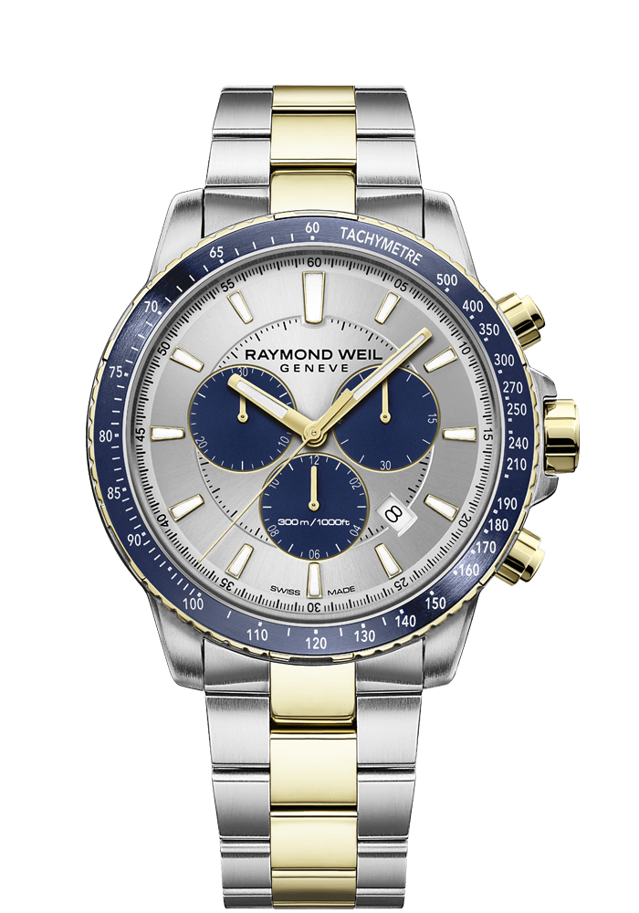 RAYMOND WEIL tango blue two-tone gold quartz chronograph 8570-sp3-65501