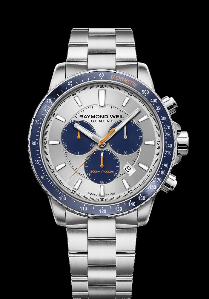 chronographe bleu tango pour homme 8570-st3-65501 RAYMOND WEIL