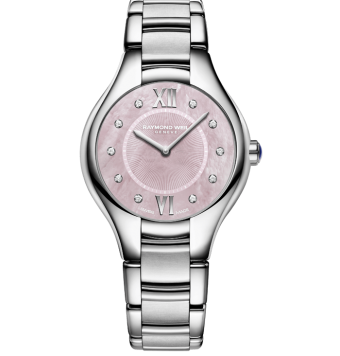 RAYMOND WEIL Noemia ladies stainless steel pink dial diamond quartz watch