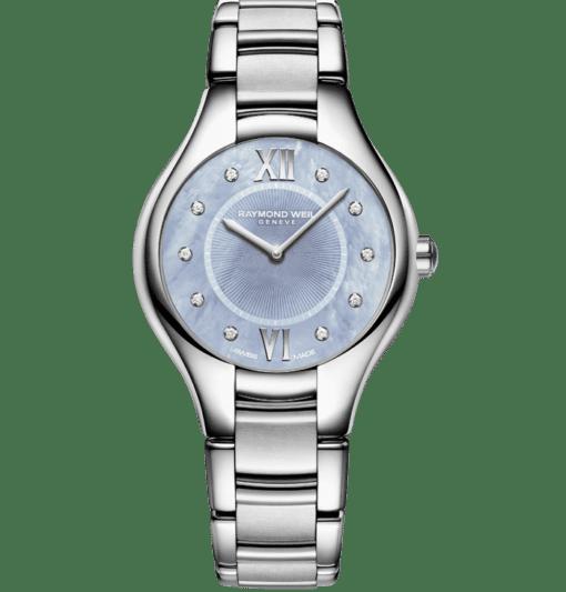 Stainless Steel Blue Dial Diamond Watch - Noemia | RAYMOND WEIL