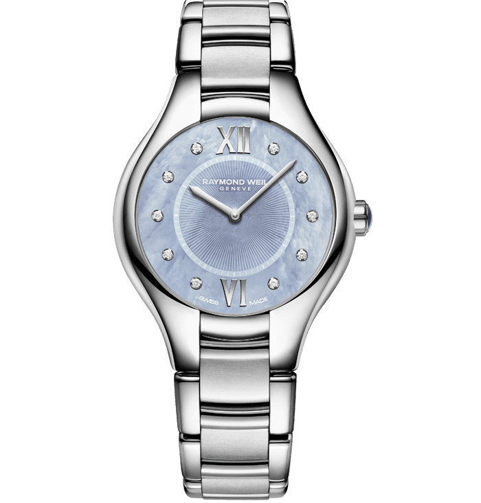 Stainless Steel Blue Dial Diamond Watch - Noemia | RAYMOND WEIL