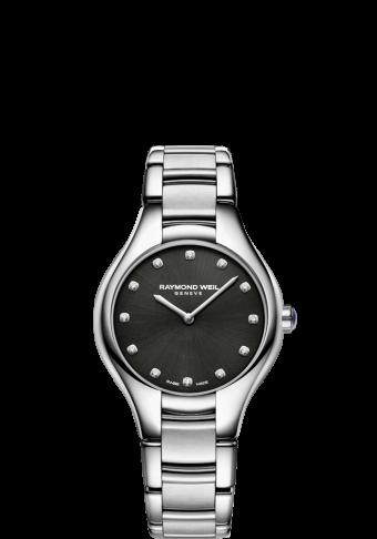 RAYMOND WEIL 娜美亚系列 5132-st-20081 黑色表盘钻石腕表
