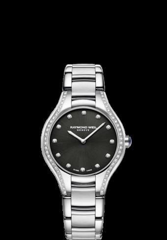 蕾蒙威娜美亚系列黑色钻石石英腕表