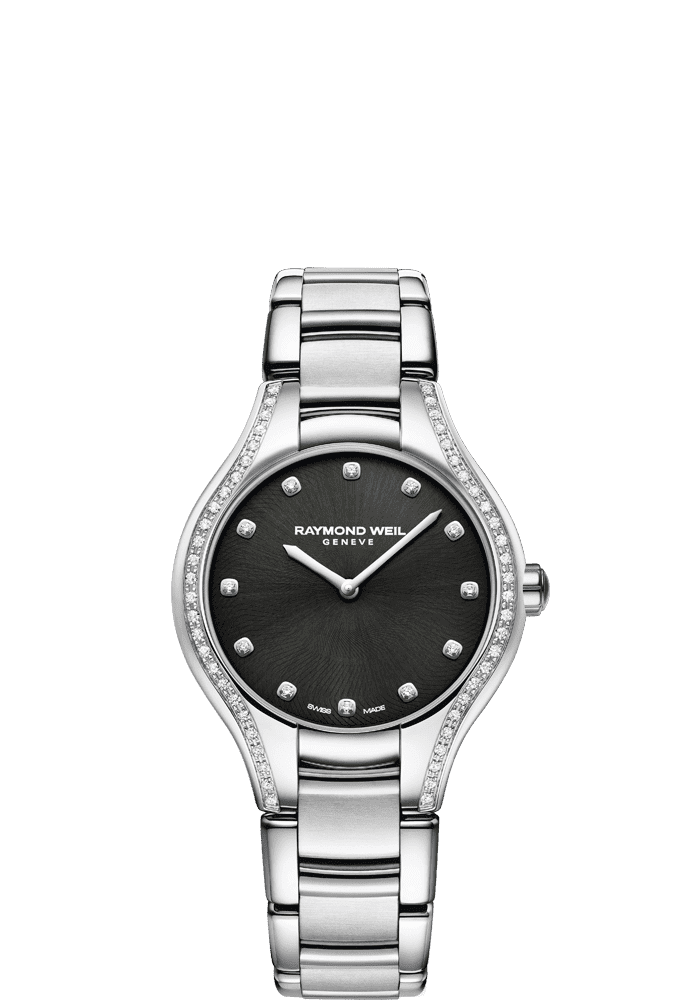 RAYMOND WEIL Noemia black diamond quartz watch