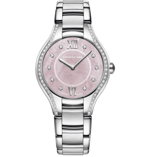 RAYMOND WEIL noemia ladies pink dial stainless steel quartz watch
