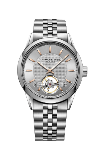 Freelancer - RW1212 Silver Openworked Watch- RAYMOND WEIL